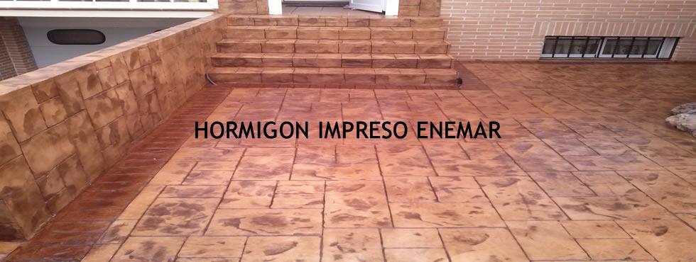 Patio con hormigón impreso Burgos